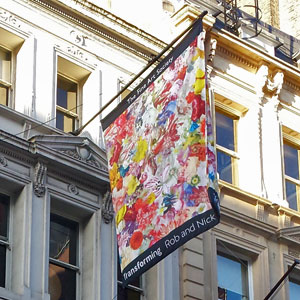 Banner Box produce new flag for exhibition at the Fine Art Society, London