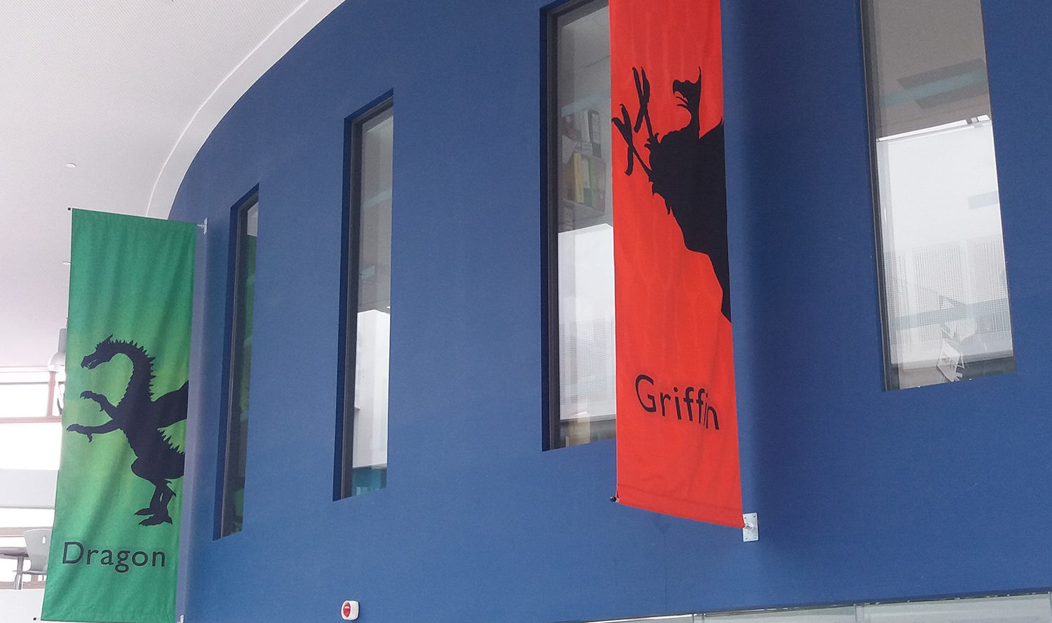 Striking New banners at Nailsea School – inspired by Harry Potter stories