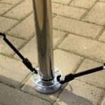 Cafe Barrier Systems - Fixings Close Up