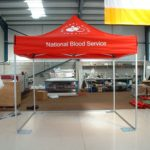 Pop Up Marquee - National Blood Service