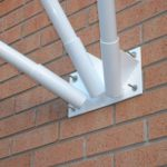 Short Wall Mounted Flagpole - 3 Poles