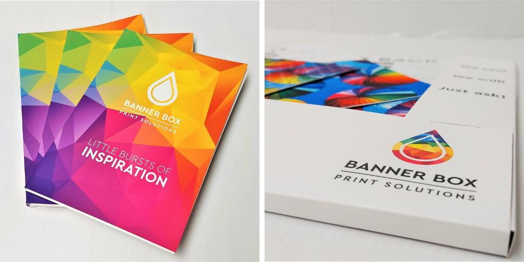 banner box sample pack brochure