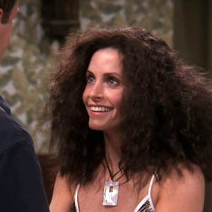 Monica Geller Table Tennis Smile Frizzy Hair Humidity