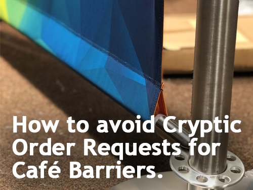 How to avoid Cryptic Order Requests for Café Barriers.