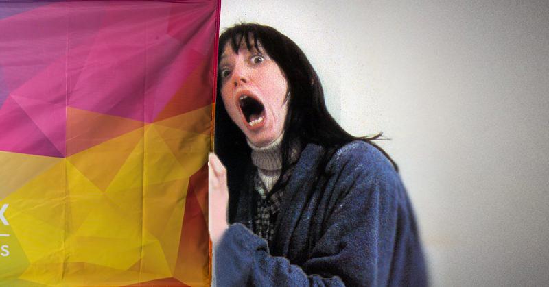 Shelley Duvall Screaming Shining Fabric Flag