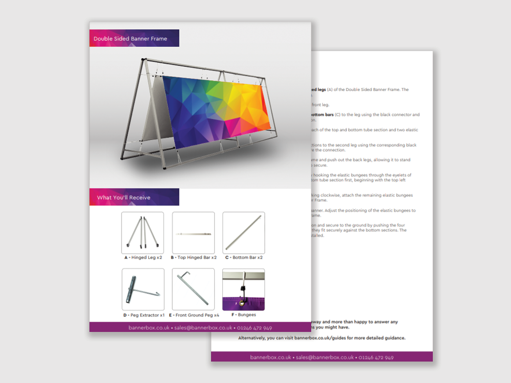 Double Sided Banner Frame Guide