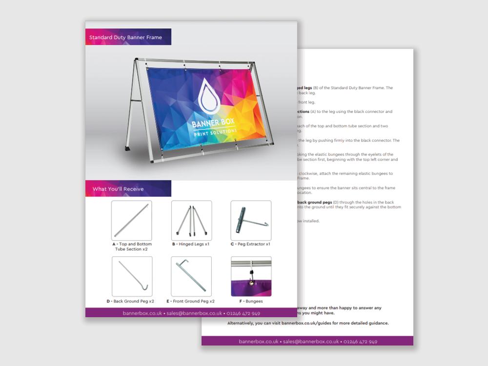 Standard Duty Banner Frame Guide