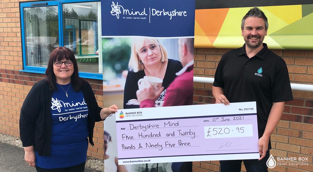 Banner Box Cheque Presentation Mind Charity
