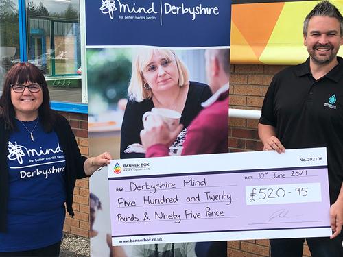 Banner Box Print Solutions raise money for mental health.