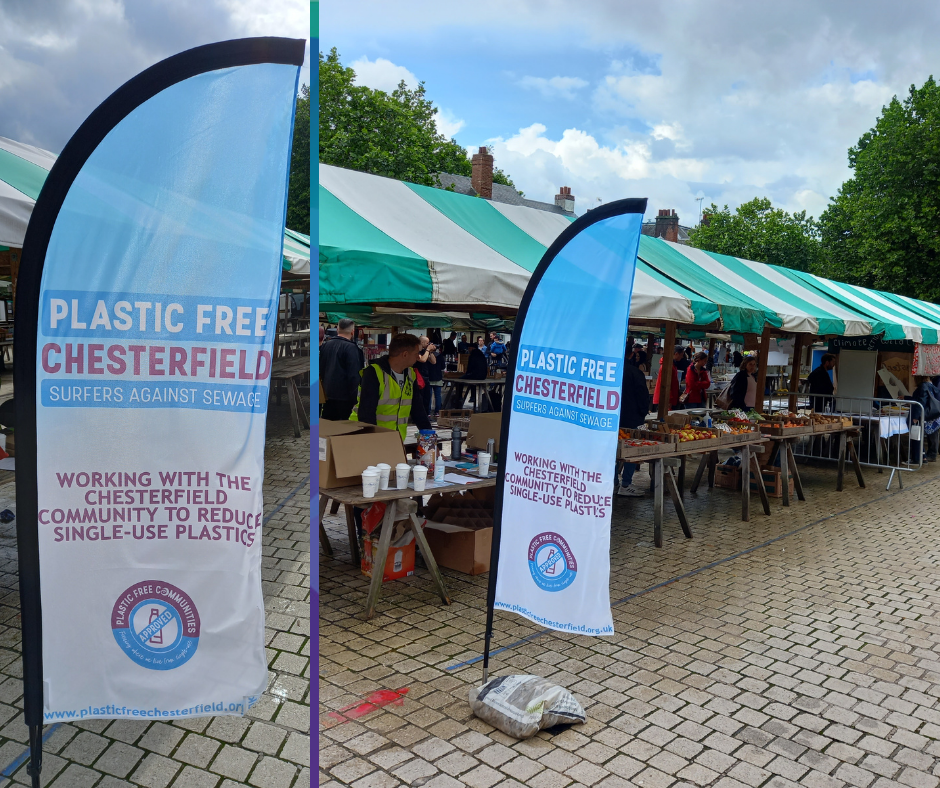 Plastic Free Chesterfield Aero Feather Flags